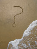 Sand question mark Stock Photo