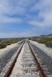 Sand on railroad tracks Royalty Free Stock Photography