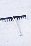 Sand rake Royalty Free Stock Photo