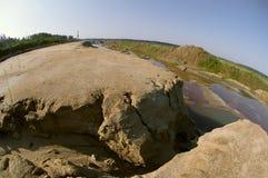 Sand ravine and valley Stock Photo