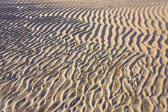 Sand ripple patterns and texture Royalty Free Stock Photos