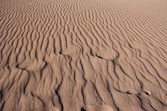Sand Ripple and Shadow Patterns Royalty Free Stock Photo