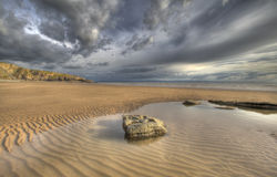 Sand ripples. Heritage Coast, South Wales UK Royalty Free Stock Images
