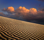 Sand Ripples And Clouds Royalty Free Stock Photo