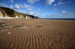 Sand ripples on beach Stock Photography