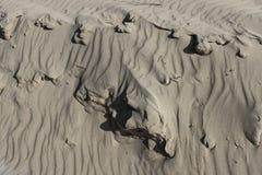 Sand ripples beach desert background horizontal Stock Images