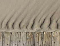 Sand ripples beach wooden path background horizontal. Sand ripples waves beach path background horizontal Royalty Free Stock Photos