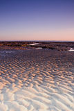 Sand Ripples at Dawn. Ripples in the sand during low tide at sunrise royalty free stock photos