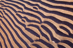 Sand ripples parallel line pattern on beach Royalty Free Stock Image