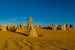 Sand ripples and Pinnacles at Nambung National Park Royalty Free Stock Images