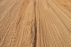 Sand road Stock Images