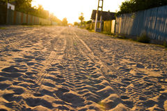 Sand Road Stock Photography