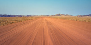 Sand road. Near Purros, Namibia Royalty Free Stock Image