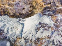 Sand and rock patterns Stock Photography