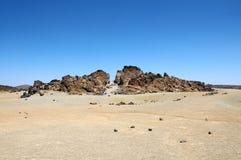 Sand and Rocks Desert Stock Image