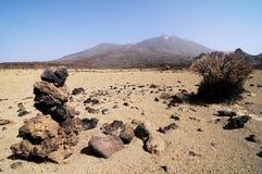 Sand and Rocks Desert Stock Photography