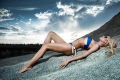 Sand rocks Royalty Free Stock Photography