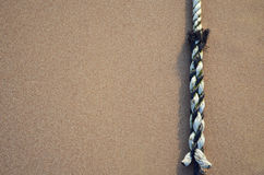 Sand and rope Royalty Free Stock Photography