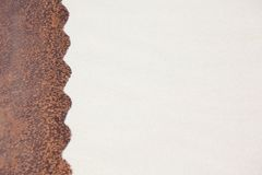 Sand rusty metal background Royalty Free Stock Images