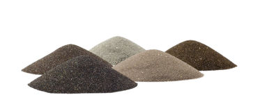 Sand's cones - minerals of mining industry. Group of sand's cones - minerals of mining industry stock photography