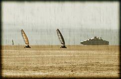 Sand sailing postcard Stock Photography