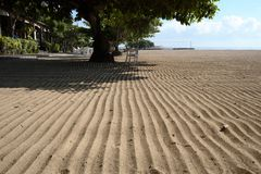 The sand at Sanur beach Stock Image