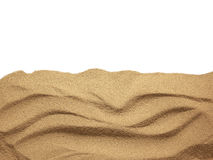 The sand scattering  on white background Royalty Free Stock Photos