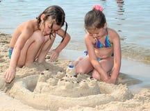 Sand-Schloss stockbild