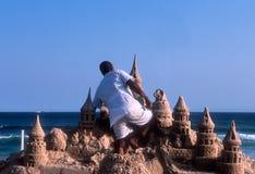 Sand-Schloss Stockbilder