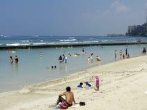 Sand-Schloss Waikiki lizenzfreie stockfotos