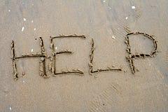 Sand-Schreiben Lizenzfreie Stockbilder