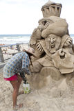 Sand Sculpting Stock Images