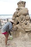 Sand Sculpting Stockbilder