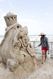Sand Sculpting Royalty Free Stock Photography