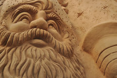 Sand sculpting art Royalty Free Stock Images