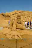 Sand sculptor Stock Images