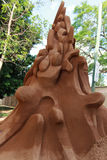 Sand sculptor. Side view of the First place on the recent Hawkesbury International Sand Sculpting Championship royalty free stock image