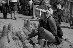 Sand sculptor Stock Photo