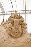 Sand sculpture 05. Amazing sand sculpture in thailand Royalty Free Stock Images
