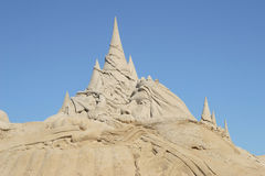 Sand Sculpture. On beach in Virginia Beach, Virginia during the annual Neptune Festival Stock Images