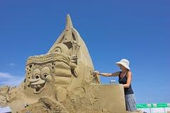 Sand sculpture Royalty Free Stock Photos