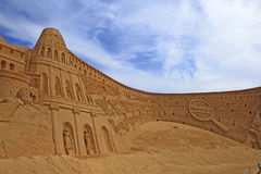 Sand Sculpture Stock Photo