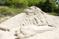 Sand Sculpture. Golden coast park BeiDaiHe stock photography