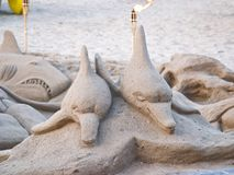 Sand sculpture. On the beach Stock Image