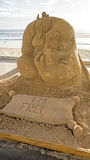 Sand sculpture of the Alladin movie Royalty Free Stock Photo