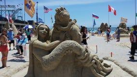 Sand sculpture Stock Photography
