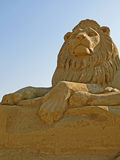 Sand sculpture. Art handmade composition of sandy material in sunlight Stock Photography