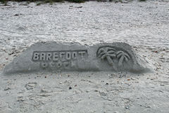 Sand Sculpture - Barefoot Beach stock photo