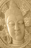 Sand Sculpture of Buddha Face. Stock Photos