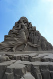 Sand sculpture of chinese moon goddess chang e Royalty Free Stock Photo
